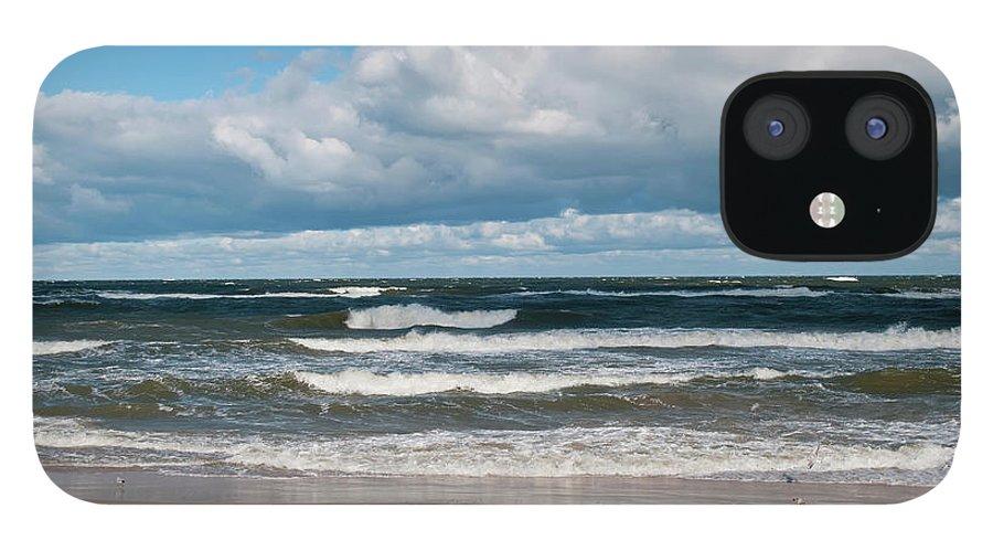 Water's Edge IPhone 12 Case featuring the photograph Poland, View Of Baltic Sea In Autumn At by Westend61