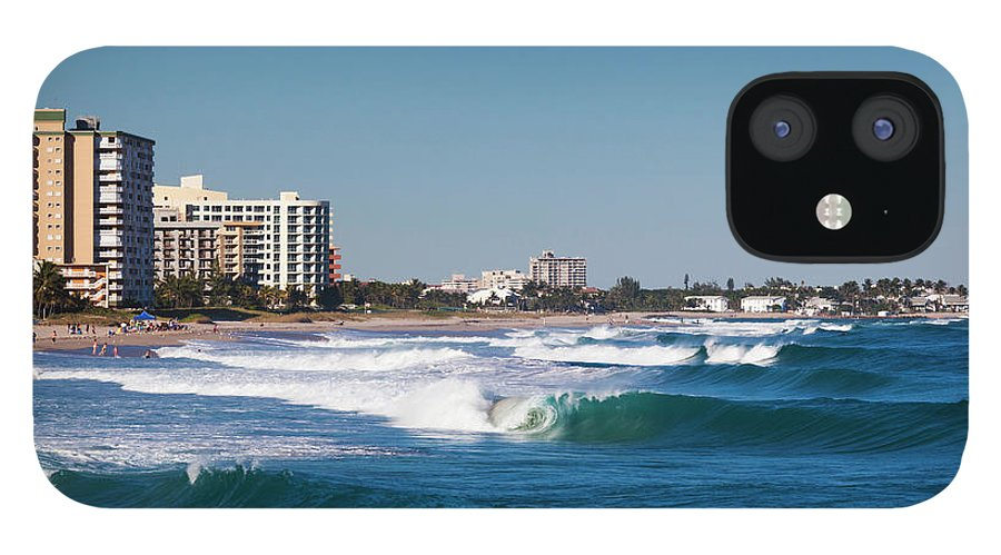 Tranquility IPhone 12 Case featuring the photograph Pompano Beach, Florida, Exterior View by Walter Bibikow