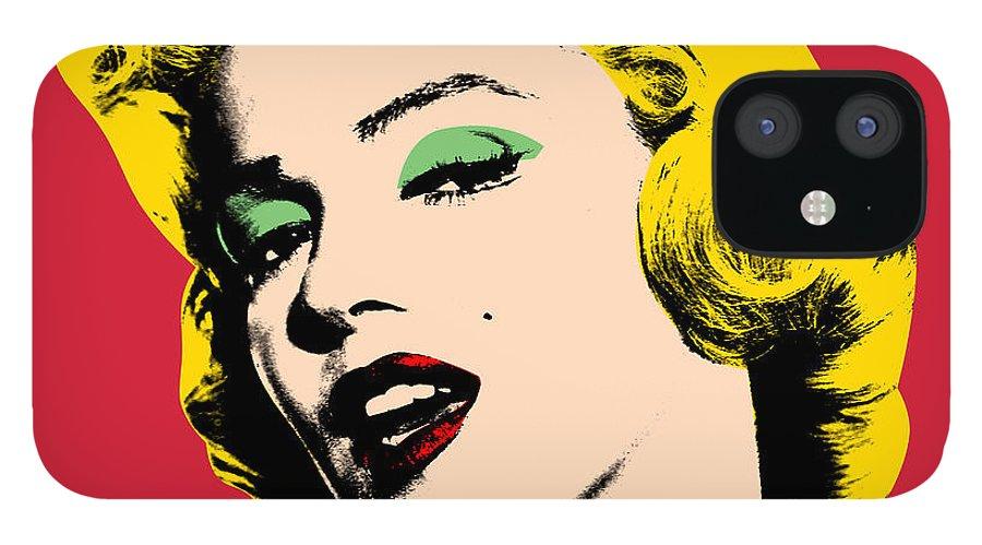 Pop Art IPhone 12 Case featuring the digital art Pop Art 3 by Mark Ashkenazi