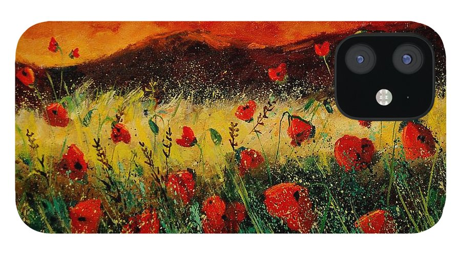 Poppies IPhone 12 Case featuring the painting Poppies 68 by Pol Ledent
