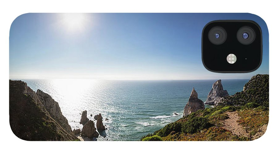 Tranquility iPhone 12 Case featuring the photograph Portugal, View Of Praia Da Ursa by Westend61