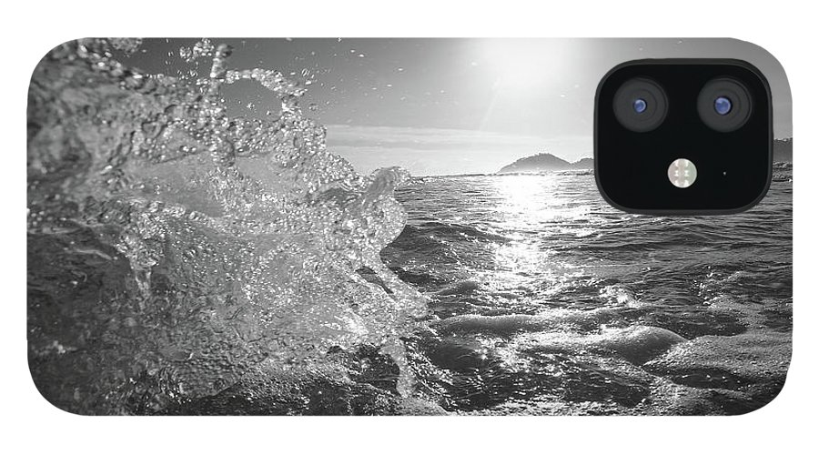 Curve IPhone 12 Case featuring the photograph Powerful Wave At Dawn by Gustavosilent