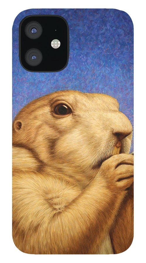 Prairie Dog IPhone 12 Case featuring the painting Prairie Dog by James W Johnson