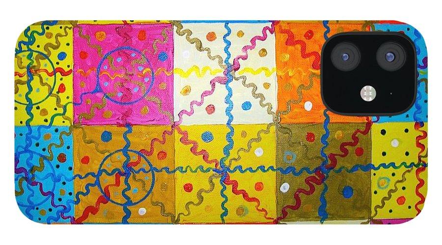 IPhone 12 Case featuring the painting Quadratura Del Cerchio by Biagio Civale