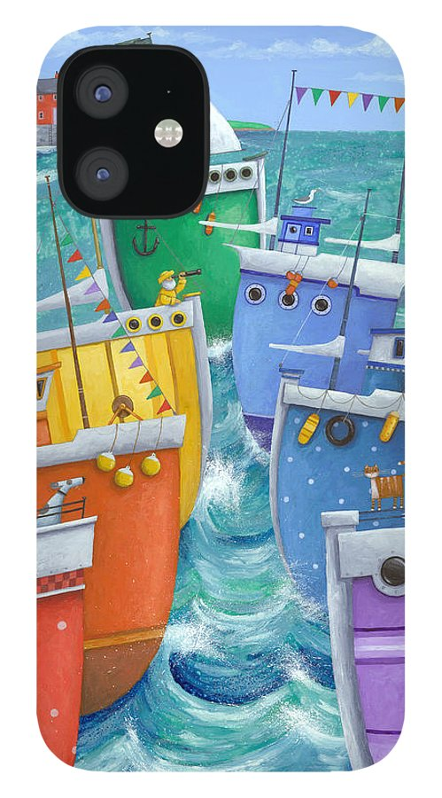 Peter Adderley IPhone 12 Case featuring the photograph Rainbow Flotilla by MGL Meiklejohn Graphics Licensing