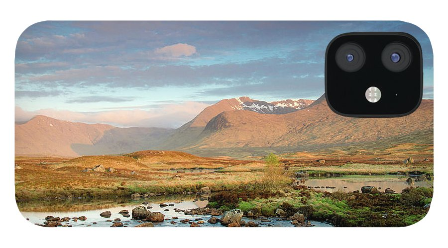 Scenics IPhone 12 Case featuring the photograph Rannoch Moor by Mike Dow Photography