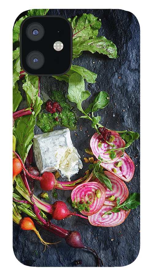 Cheese IPhone 12 Case featuring the photograph Raw Beeet Salad Ingredients by Annabelle Breakey