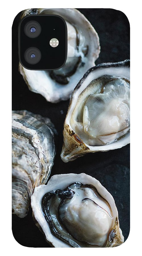 Oyster IPhone 12 Case featuring the photograph Raw Oysters by Jack Andersen