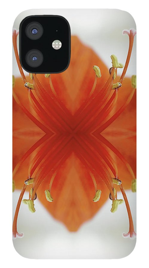 Tranquility IPhone 12 Case featuring the photograph Red Amaryllis Flower by Silvia Otte