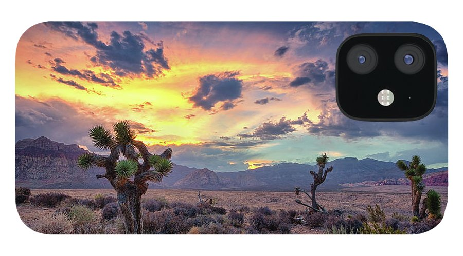 Scenics iPhone 12 Case featuring the photograph Red Rock Canyon by Eddie Lluisma