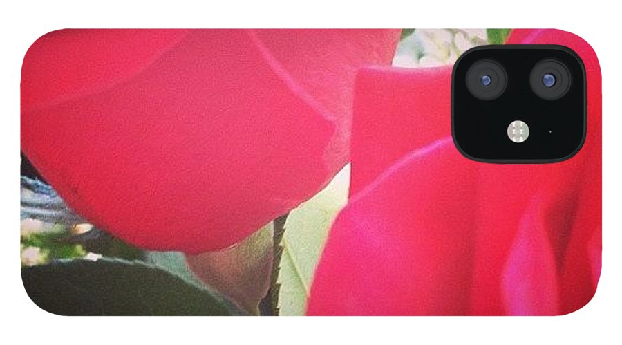 Beautiful IPhone 12 Case featuring the photograph #red #rose #roses #flower #nature #new by Amber Campanaro