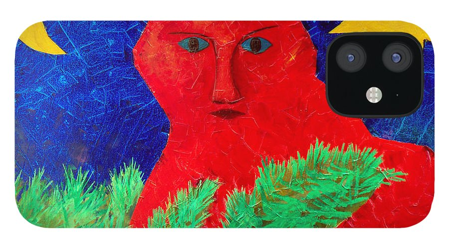 Fantasy IPhone 12 Case featuring the painting Red by Sergey Bezhinets