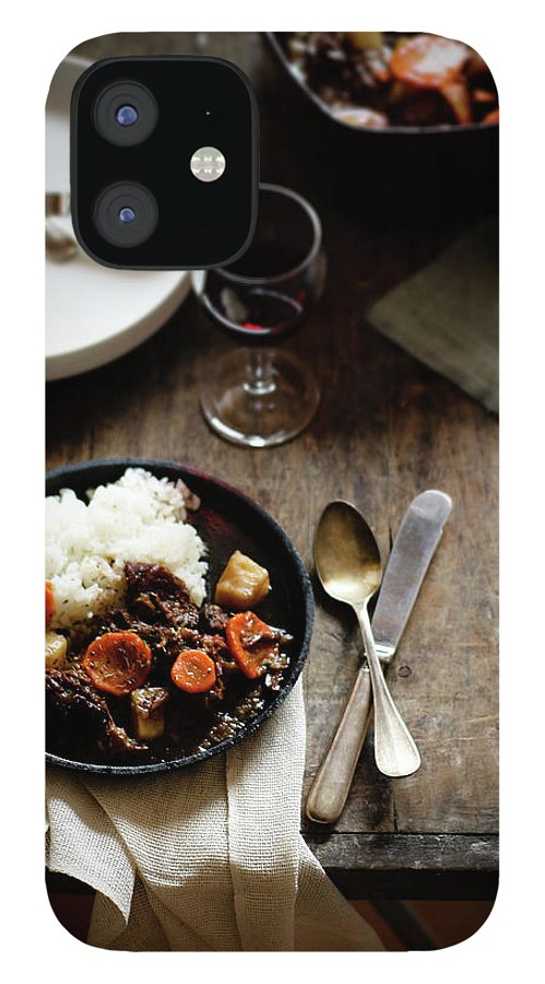 Spoon IPhone 12 Case featuring the photograph Red Wine Braised Beef by 200
