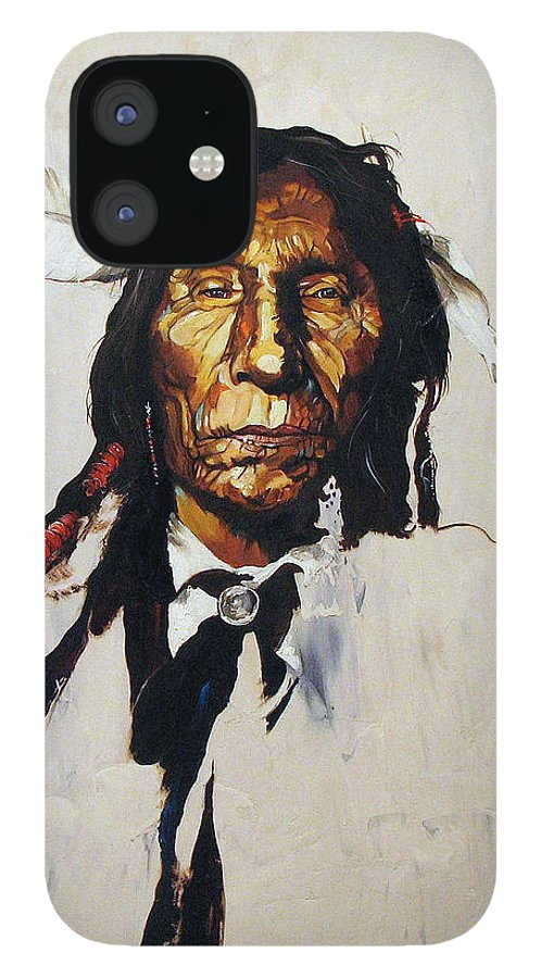 Southwest Art IPhone 12 Case featuring the painting Remember by J W Baker
