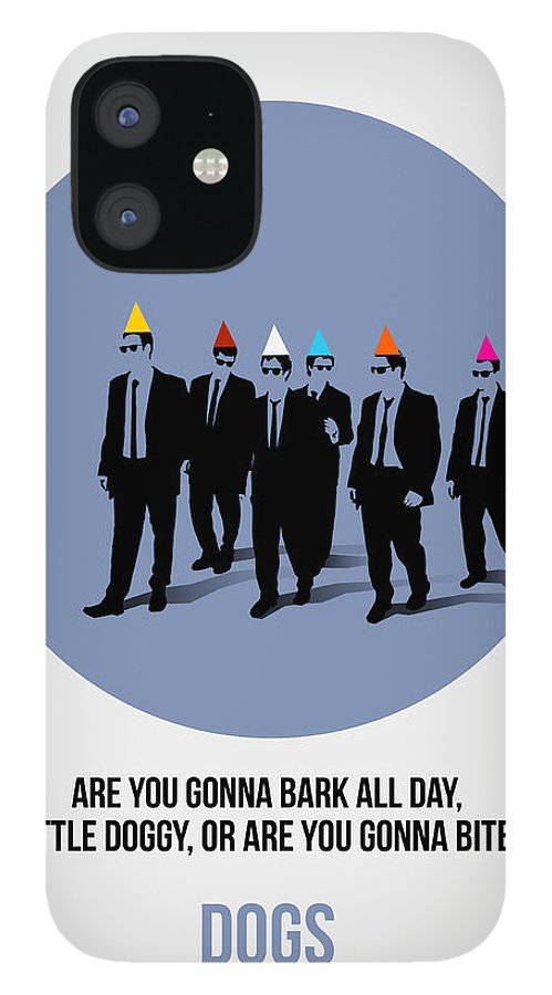 Reservoir Dogs iPhone 12 Case featuring the painting Reservoir Dogs Poster by Naxart Studio
