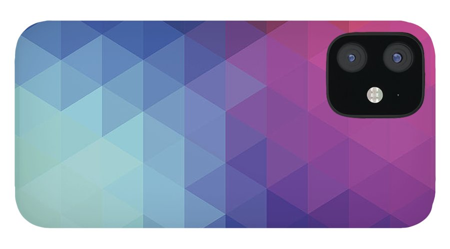 Triangle Shape IPhone 12 Case featuring the digital art Retro Hexagon Abstract Background by Mustafahacalaki