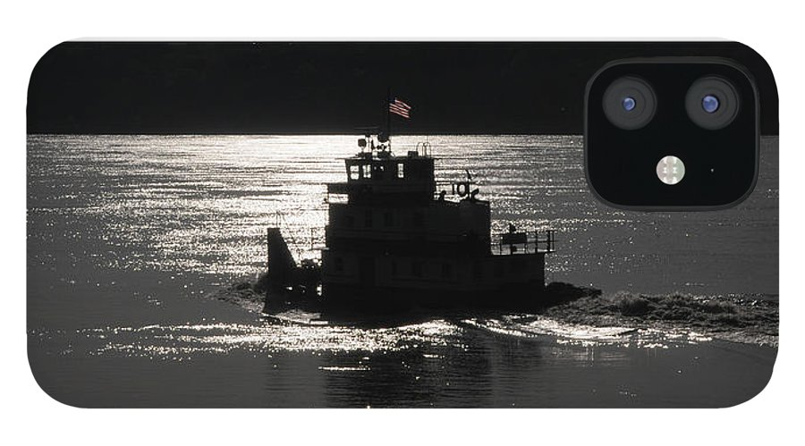 Riverboat IPhone 12 Case featuring the photograph Tugboat by Leon Hollins III
