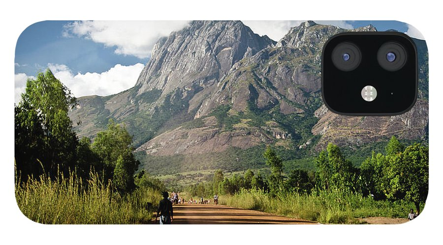 Scenics IPhone 12 Case featuring the photograph Road To Mount Mulanje by Colin Carmichael