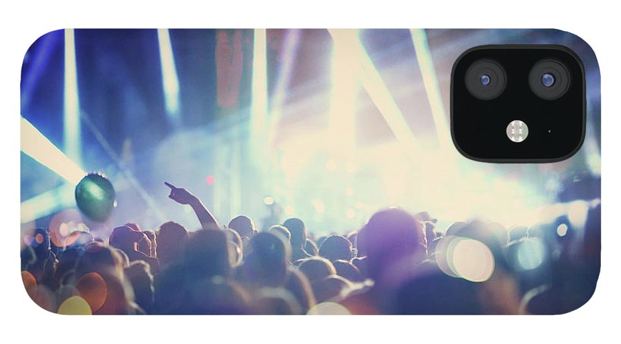 Event IPhone 12 Case featuring the photograph Rock Concert by Gilaxia