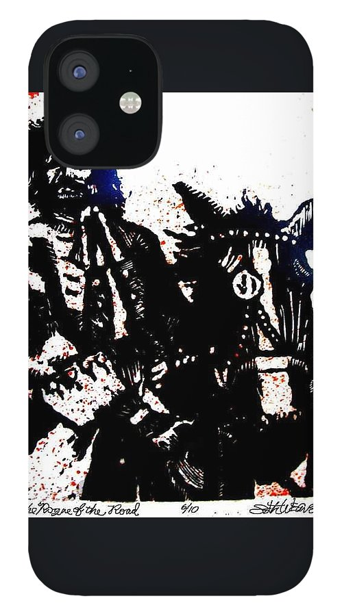 English Highwayman IPhone 12 Case featuring the mixed media Rogue of the Road by Seth Weaver