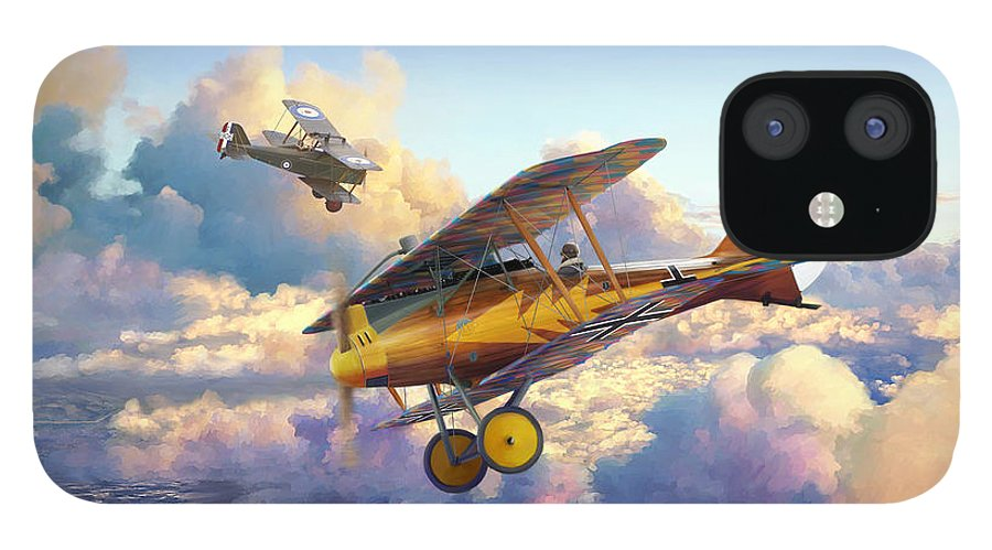 Roland D.vi IPhone 12 Case featuring the painting Roland D.VIb by Mark Karvon
