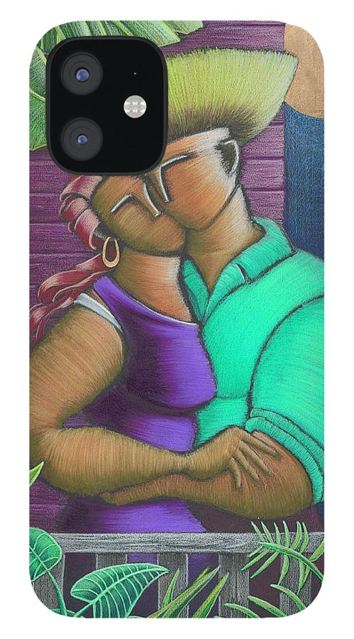 Puerto Rico IPhone 12 Case featuring the painting Romance Jibaro by Oscar Ortiz