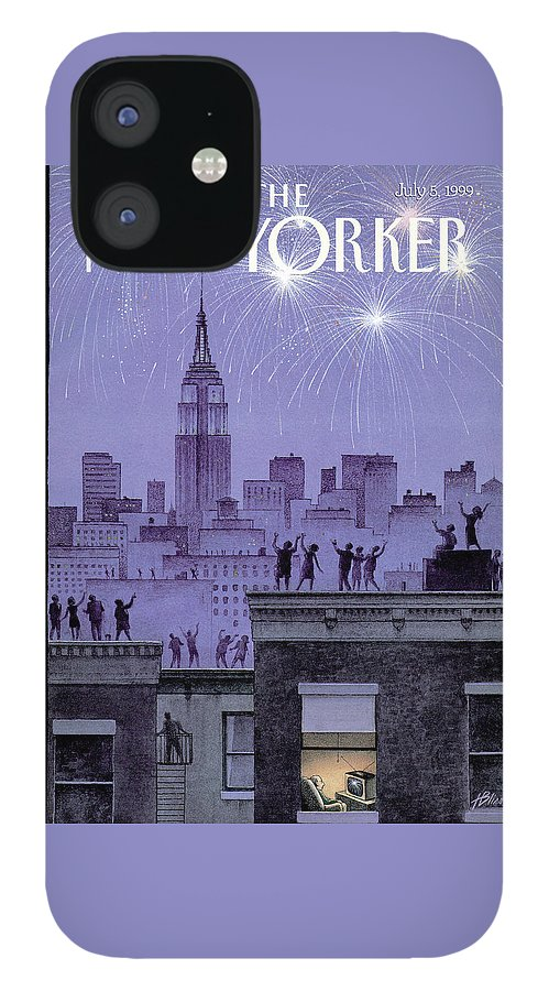 Rooftop Revelers Celebrate New Year's Eve IPhone 12 Case