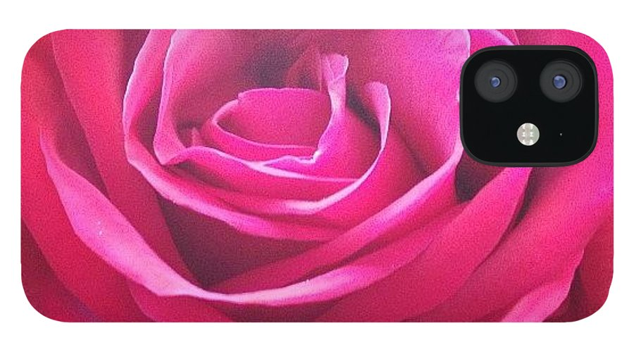 Beautiful IPhone 12 Case featuring the photograph #rose #redrose #red #flower #redflower by Amber Campanaro