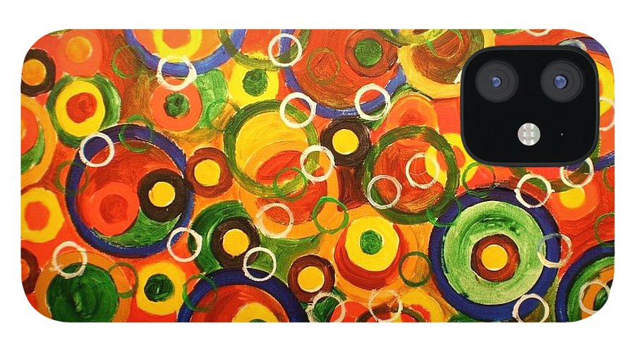 iPhone 12 Case featuring the painting Rotelline by Biagio Civale