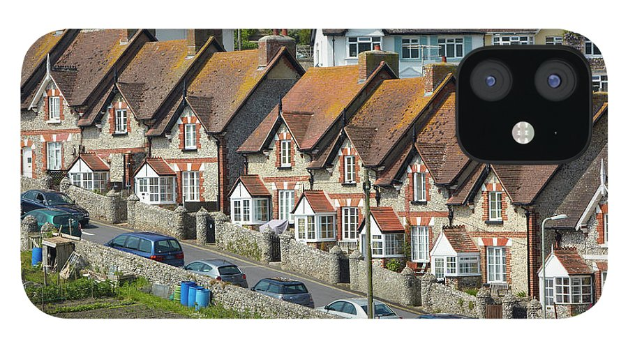 Row House IPhone 12 Case featuring the photograph Row Of Houses by Allan Baxter
