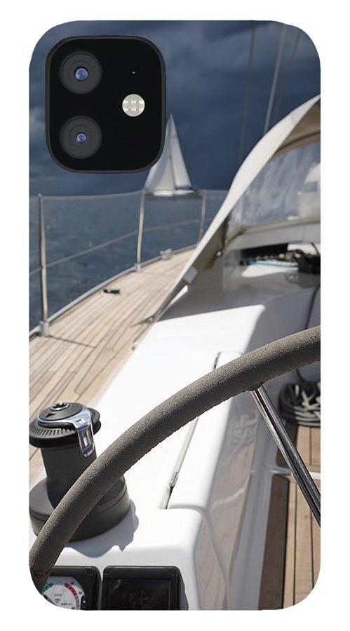 Adriatic Sea IPhone 12 Case featuring the photograph Sailboats In Mediterranean Sea by Vuk8691