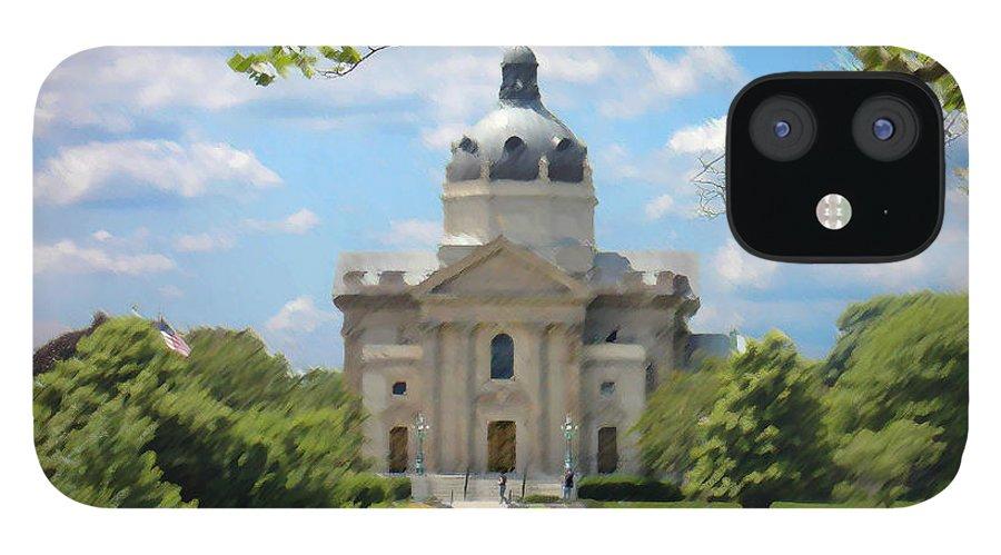 Landscape IPhone 12 Case featuring the digital art Saint Catharines by Steve Karol