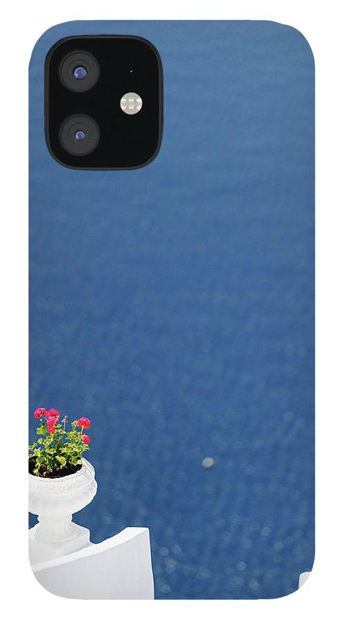 Greek Culture IPhone 12 Case featuring the photograph Santorini Flower by Brave-carp