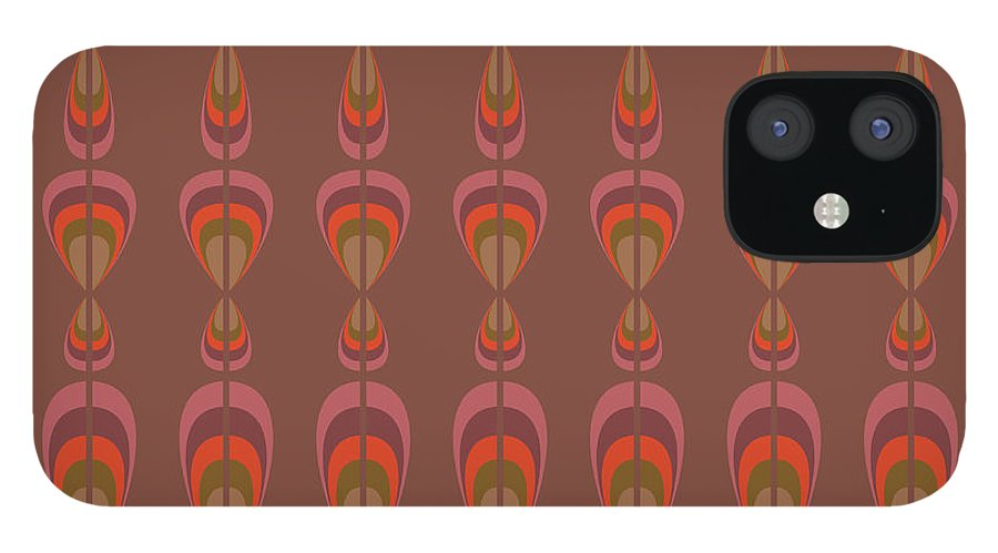 Upholstery IPhone 12 Case featuring the digital art Seamless Geometric Vintage Wallpaper by Leszek Glasner