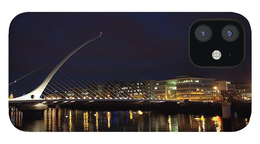 Dublin IPhone 12 Case featuring the photograph Sean Ocasey Bridge, Dublin by Leverstock