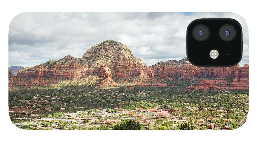 Scenics IPhone 12 Case featuring the photograph Sedona, Arizona, From Above by Picturelake
