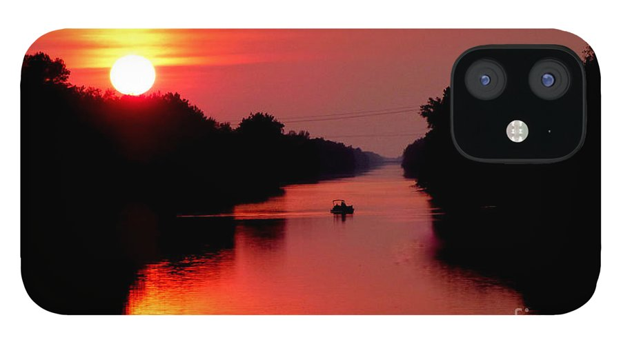 Landscape IPhone 12 Case featuring the photograph September Sunset by Rennae Christman