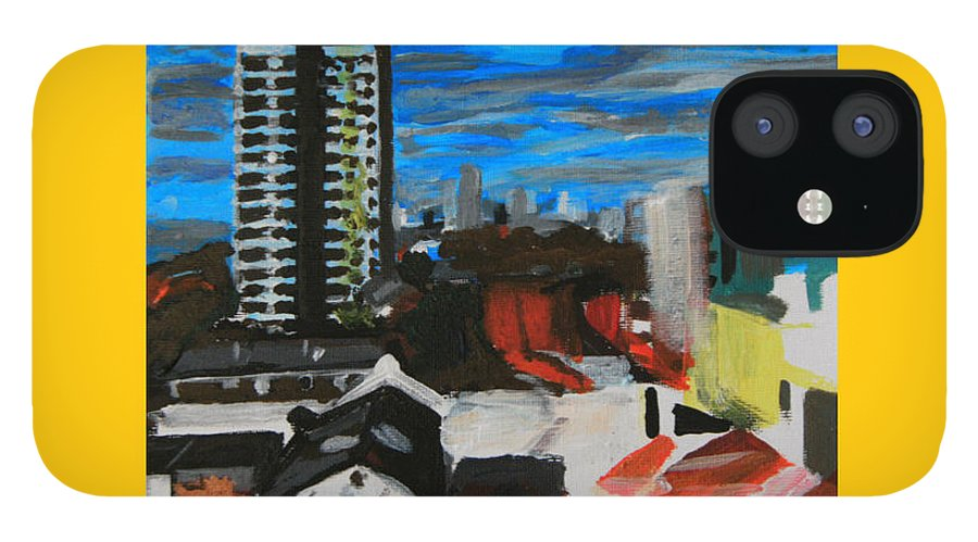 Settle Point IPhone 12 Case featuring the painting Settle Point - Plaistow East London by Mudiama Kammoh