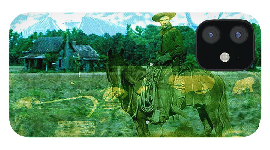 Shadow On The Land iPhone 12 Case featuring the digital art Shadows On The Land by Seth Weaver