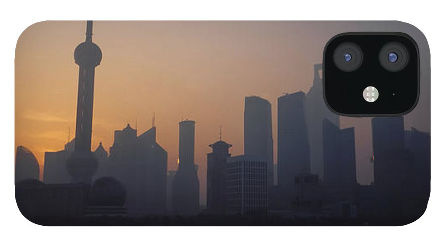 Tranquility IPhone 12 Case featuring the photograph Shanghai In Early Morning by Xijia Cao