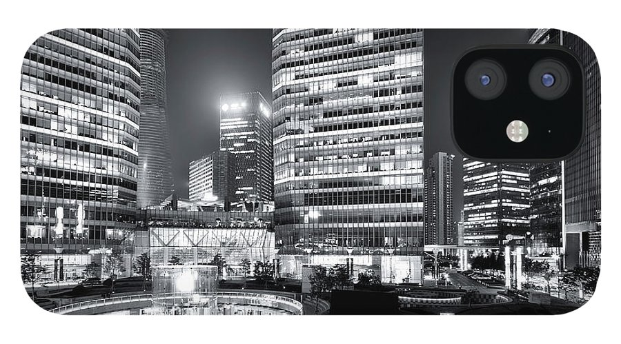 Financial District IPhone 12 Case featuring the photograph Shanghai by Photographer - Rob Smith