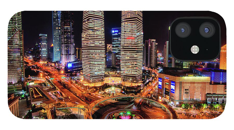 Financial District IPhone 12 Case featuring the photograph Shanghais Financial City Center by Mimo Khair Photography