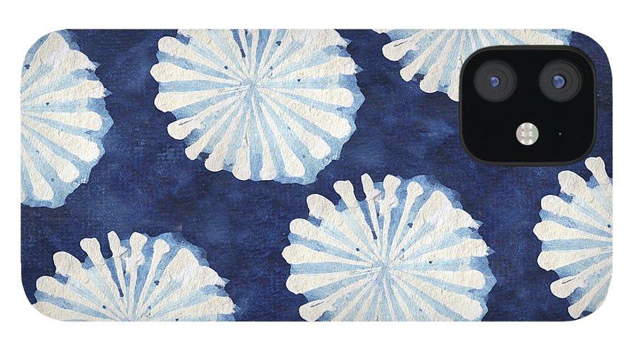 Shibori IPhone 12 Case featuring the digital art Shibori IIi by Elizabeth Medley
