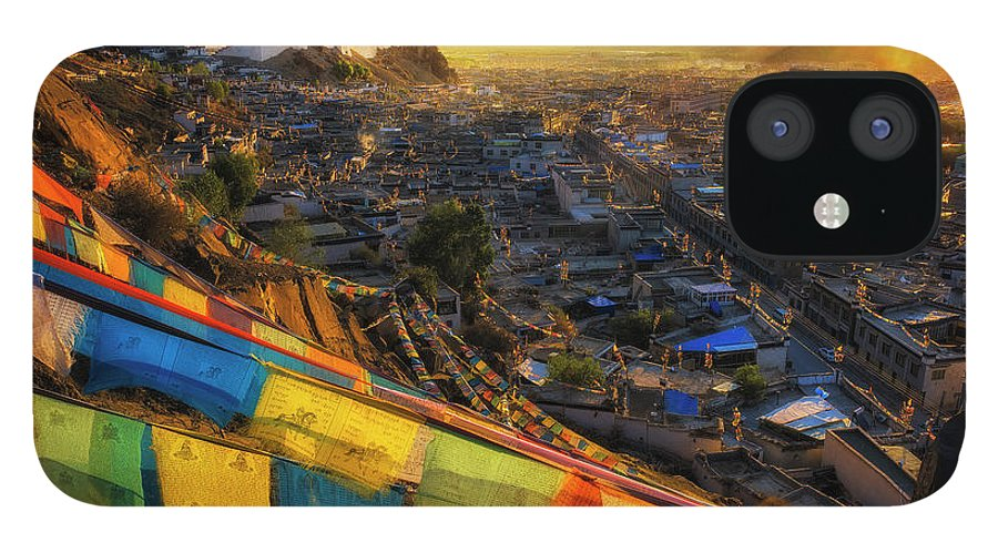 Chinese Culture IPhone 12 Case featuring the photograph Shigatse Monastery by Ratnakorn Piyasirisorost