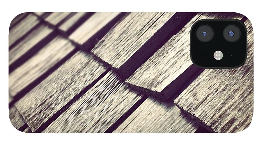 Architecture IPhone 12 Case featuring the photograph Shingles by Christy Beckwith