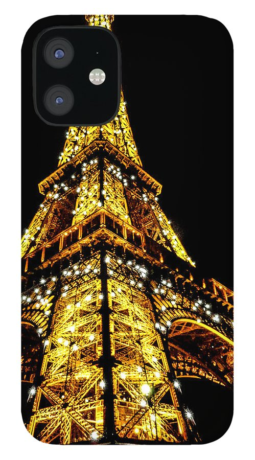 Eiffel Tower IPhone 12 Case featuring the photograph Shining at night by S M Hasan