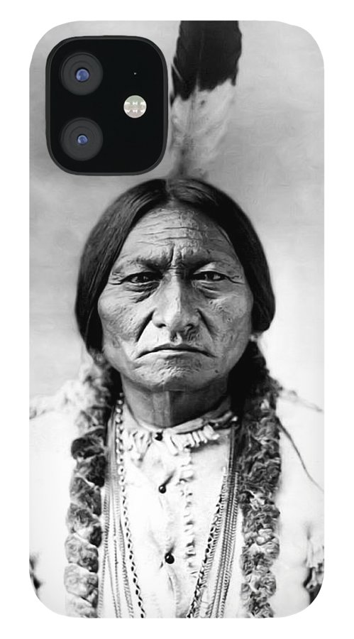 Sitting Bull IPhone 12 Case featuring the photograph Sitting Bull by Bill Cannon