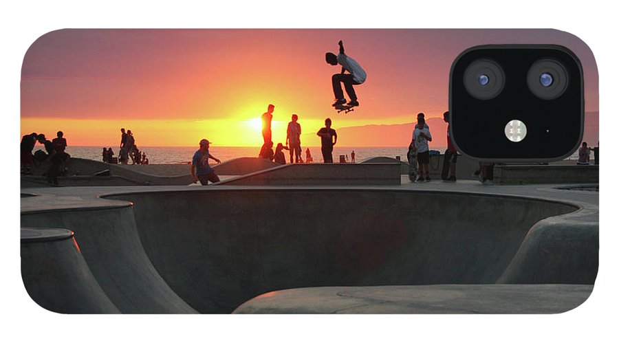 Expertise IPhone 12 Case featuring the photograph Skateboarding At Venice Beach by Mgs