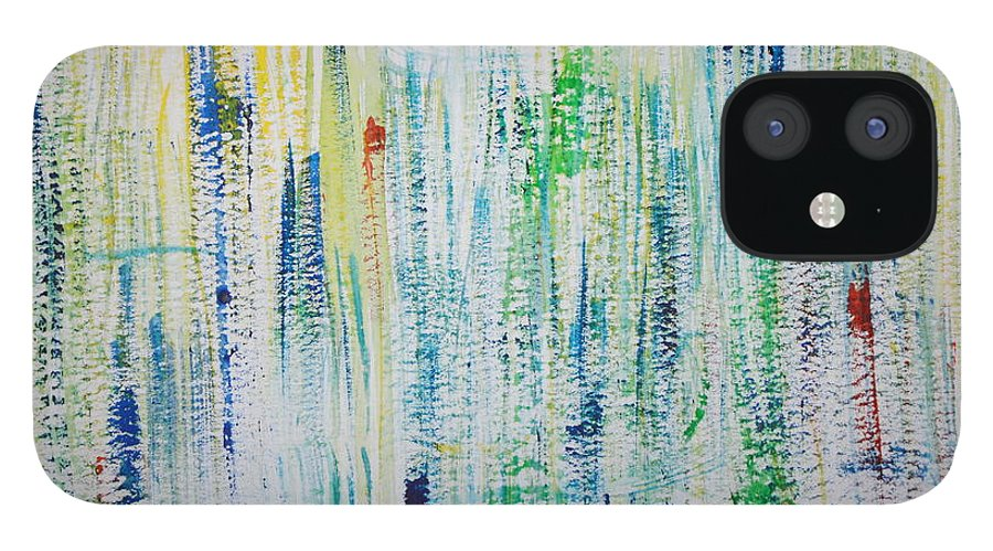 Emotions IPhone 12 Case featuring the painting Softly Strangled by Tom Atkins