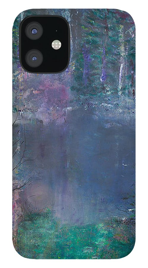 Solistice IPhone 12 Case featuring the painting Solistice by Phoenix Simpson